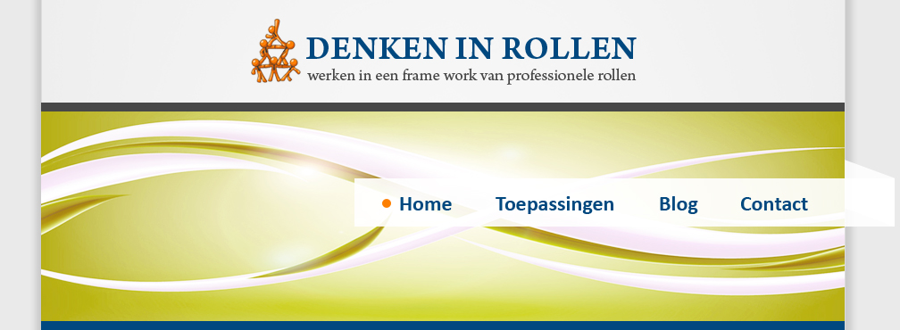 Header + menu Denken in Rollen